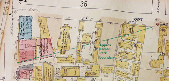 insurance map for Kamalii Park area, 1914 (updated 1922)